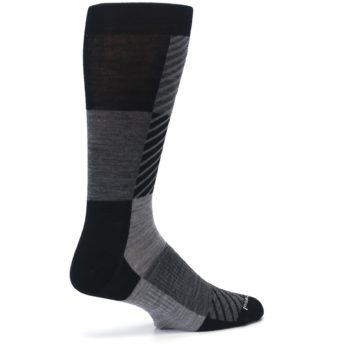 Image of Black Gray Gunnar Checkered Wool Men's Casual Socks (side-1-back-22)