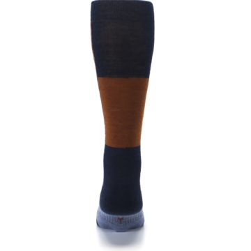 Image of Navy Burnt Orange Gunnar Checkered Wool Men's Casual Socks (back-18)