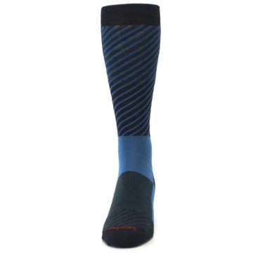 Image of Charcoal Blue Gunnar Checkered Wool Men's Casual Socks (front-05)