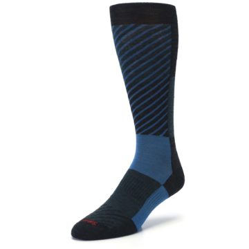 Image of Charcoal Blue Gunnar Checkered Wool Men's Casual Socks (side-2-front-08)