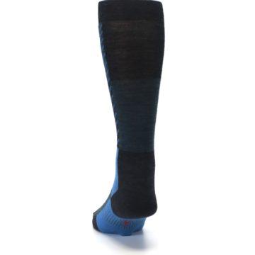 Image of Charcoal Blue Gunnar Checkered Wool Men's Casual Socks (back-17)