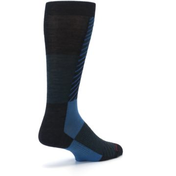 Image of Charcoal Blue Gunnar Checkered Wool Men's Casual Socks (side-1-back-22)