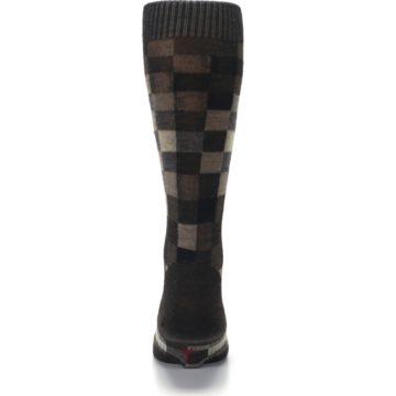 Image of Chestnut Gray Digi Checkered Wool Men's Casual Socks (back-18)