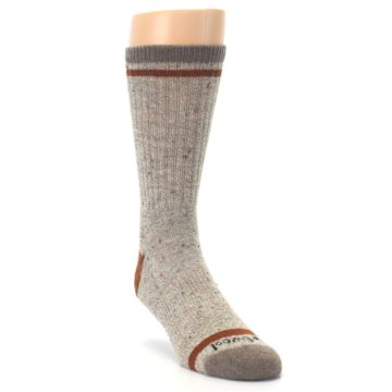 Image of Fossil Heather Larimer Wool Men's Boot Socks (side-1-front-02)