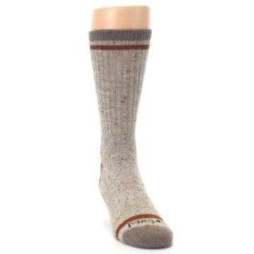Image of Fossil Heather Larimer Wool Men's Boot Socks (side-1-front-03)