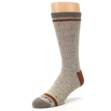 Image of Fossil Heather Larimer Wool Men's Boot Socks (side-2-front-08)