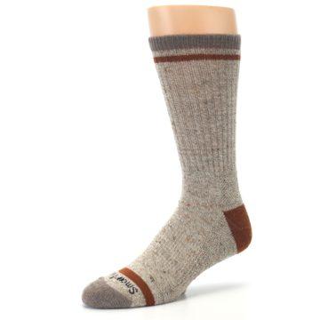 Image of Fossil Heather Larimer Wool Men's Boot Socks (side-2-09)