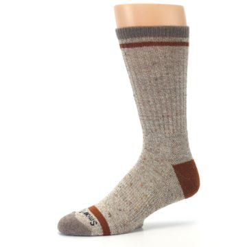 Image of Fossil Heather Larimer Wool Men's Boot Socks (side-2-10)