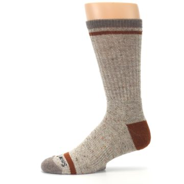Image of Fossil Heather Larimer Wool Men's Boot Socks (side-2-11)