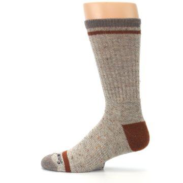 Image of Fossil Heather Larimer Wool Men's Boot Socks (side-2-12)