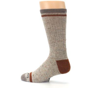 Image of Fossil Heather Larimer Wool Men's Boot Socks (side-2-13)