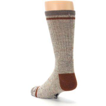 Image of Fossil Heather Larimer Wool Men's Boot Socks (side-2-back-15)