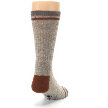 Image of Fossil Heather Larimer Wool Men's Boot Socks (side-1-back-20)