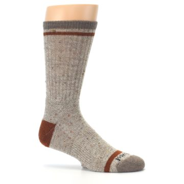 Image of Fossil Heather Larimer Wool Men's Boot Socks (side-1-25)
