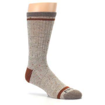 Image of Fossil Heather Larimer Wool Men's Boot Socks (side-1-26)