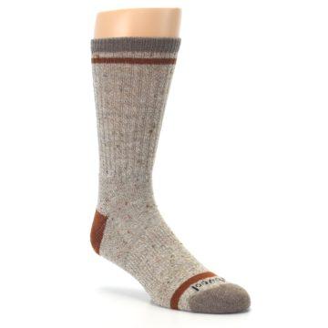 Image of Fossil Heather Larimer Wool Men's Boot Socks (side-1-27)
