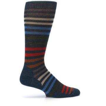 Image of Lochness Blue Stripe Wool Men's Casual Socks (side-1-24)