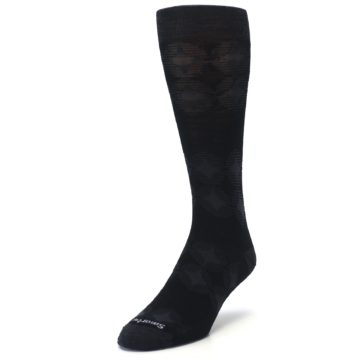 Image of Black Agano Diamond Wool Men's Casual Socks (side-2-front-07)