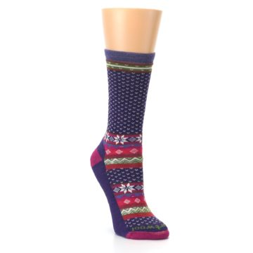 Image of Purple Pink Nordic Wool Women's Casual Socks (side-1-front-02)