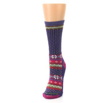 Image of Purple Pink Nordic Wool Women's Casual Socks (side-2-front-07)