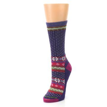 Image of Purple Pink Nordic Wool Women's Casual Socks (side-2-front-08)