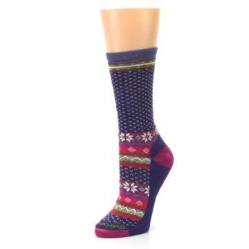 Image of Purple Pink Nordic Wool Women's Casual Socks (side-2-09)