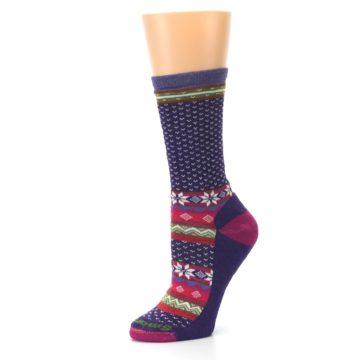 Image of Purple Pink Nordic Wool Women's Casual Socks (side-2-10)