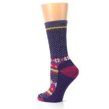 Image of Purple Pink Nordic Wool Women's Casual Socks (side-2-back-14)