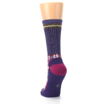 Image of Purple Pink Nordic Wool Women's Casual Socks (back-17)