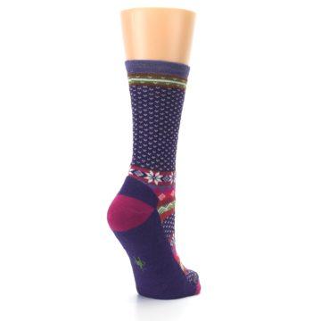 Image of Purple Pink Nordic Wool Women's Casual Socks (side-1-back-22)