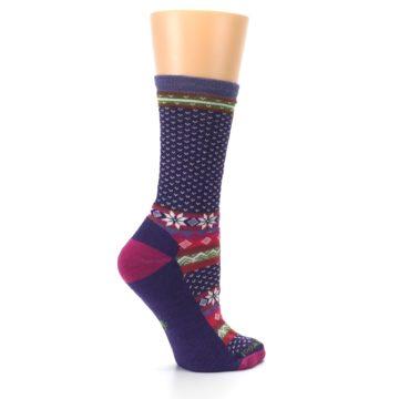 Image of Purple Pink Nordic Wool Women's Casual Socks (side-1-24)