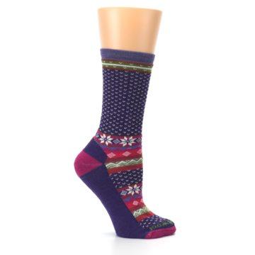 Image of Purple Pink Nordic Wool Women's Casual Socks (side-1-25)