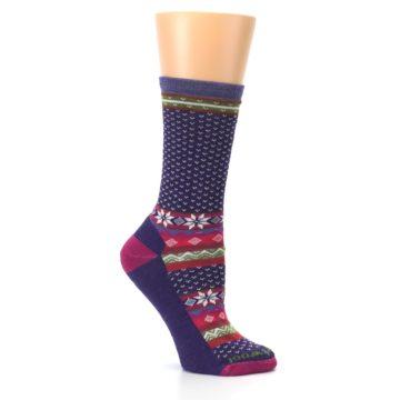 Image of Purple Pink Nordic Wool Women's Casual Socks (side-1-26)