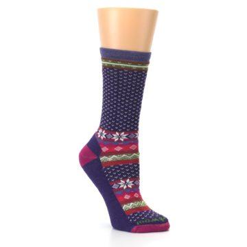 Image of Purple Pink Nordic Wool Women's Casual Socks (side-1-27)