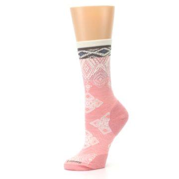 Image of Pink Cream Diamond Wool Women's Casual Socks (side-2-10)