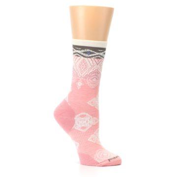 Image of Pink Cream Diamond Wool Women's Casual Socks (side-1-26)