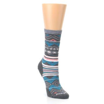 Image of Gray Blue Ripple Creek Wool Women's Casual Socks (side-1-front-02)