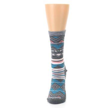 Image of Gray Blue Ripple Creek Wool Women's Casual Socks (side-2-front-06)