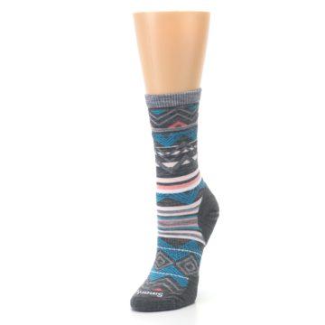Image of Gray Blue Ripple Creek Wool Women's Casual Socks (side-2-front-08)