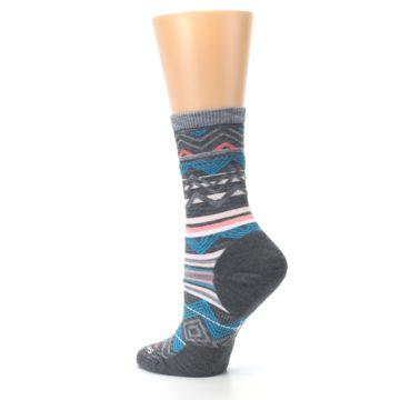 Image of Gray Blue Ripple Creek Wool Women's Casual Socks (side-2-back-14)