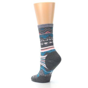 Image of Gray Blue Ripple Creek Wool Women's Casual Socks (side-2-back-15)