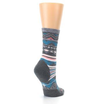 Image of Gray Blue Ripple Creek Wool Women's Casual Socks (side-1-back-22)