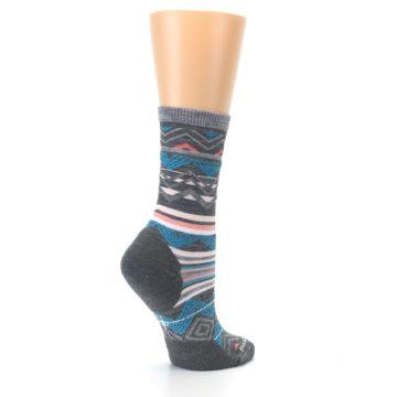 Image of Gray Blue Ripple Creek Wool Women's Casual Socks (side-1-23)