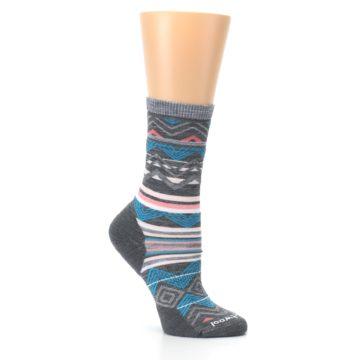 Image of Gray Blue Ripple Creek Wool Women's Casual Socks (side-1-26)