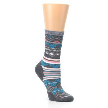 Image of Gray Blue Ripple Creek Wool Women's Casual Socks (side-1-27)