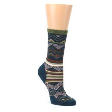 Blue-Green-Ripple-Creek-Wool-Womens-Casual-Socks-Smartwool