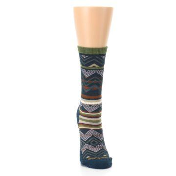 Image of Blue Green Ripple Creek Wool Women's Casual Socks (front-04)