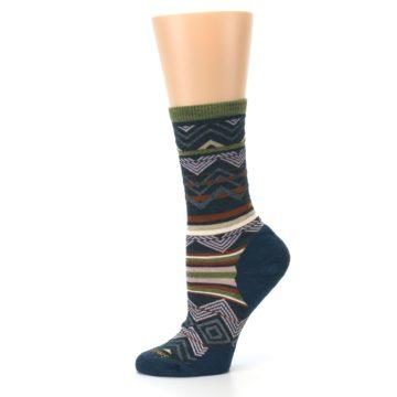 Image of Blue Green Ripple Creek Wool Women's Casual Socks (side-2-11)