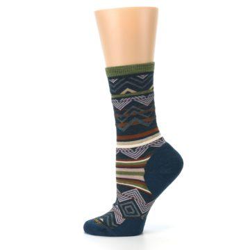 Image of Blue Green Ripple Creek Wool Women's Casual Socks (side-2-12)