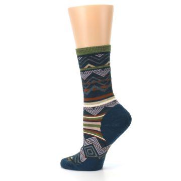 Image of Blue Green Ripple Creek Wool Women's Casual Socks (side-2-13)